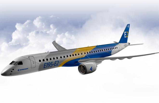 Самолет Embraer E195-E2 сделают более дальнобойным