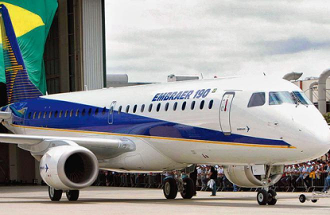 Выкатка самолета Embraer 190 состоялась в феврале 2004 г., первый полет — в март