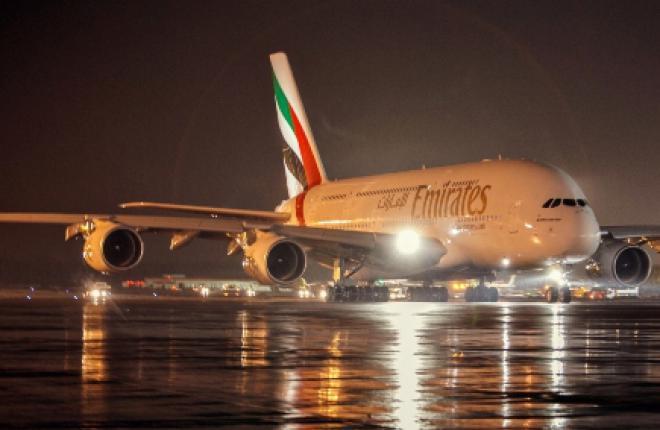 Самолеты Airbus A380 авиакомпании Emirates будут летать в Москву дважды в день