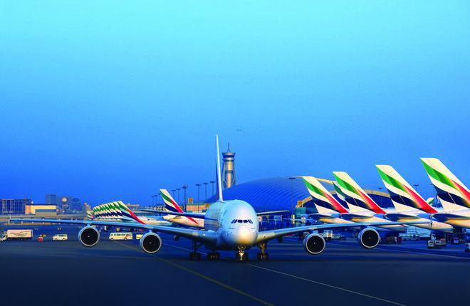 Самолет Airbus A380 авиакомпании Emirates