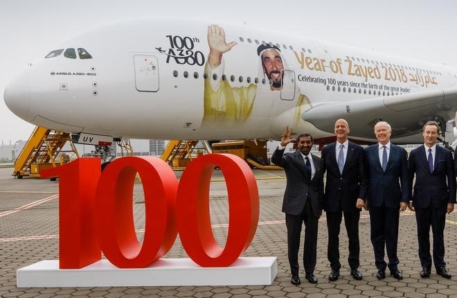 Сотый Airbus А380 для Emirates
