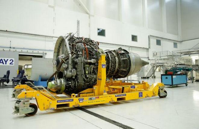 Тележка для авиационного двигателя