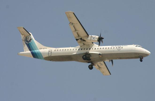 ATR 72 авиакомпании Iran Aseman Airlines, бортовой регистрационный номер EP-ATS