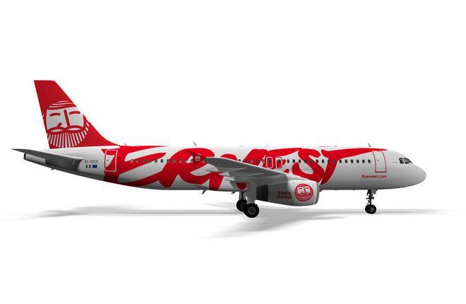 Самолет A320 авиакомпании Ernest Airlines