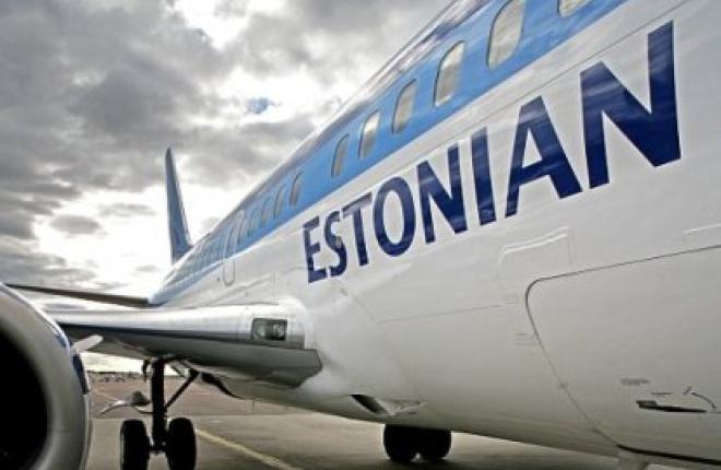 Пассажиропоток Estonian Air за восемь месяцев 2012 г. возрос на 76,1%
