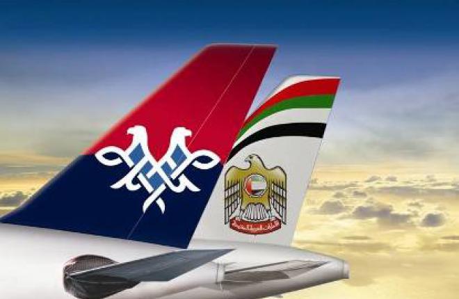 Авиакомпания Etihad Airways приобрела 49% акций авиаперевочзика JAT Airways