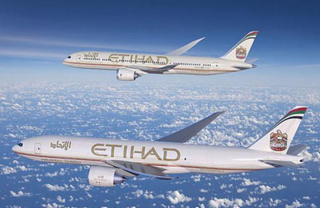 Авиакомпания Etihad Airways покупает десять Boeing 787 и два Boeing 777