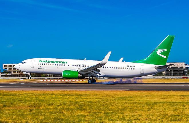 Boeing 737-800 авиакомпании Turkmenistan Airlines