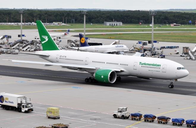 Самолет B-777 авиакомпании Turkmenistan Airlines