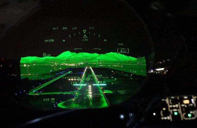 Бизнес-джет Falcon 8X получил систему комбинированного видения FalconEye