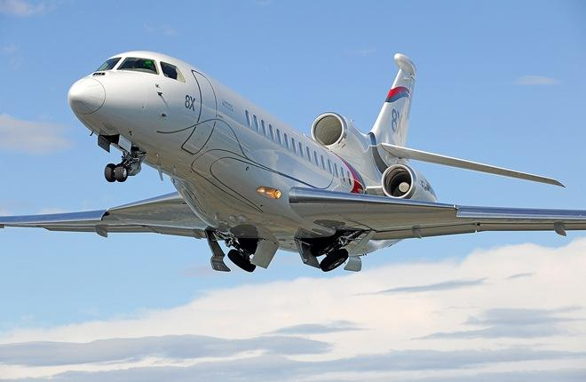 Флагманский самолет Dassault Falcon 8X сертифицирован в России