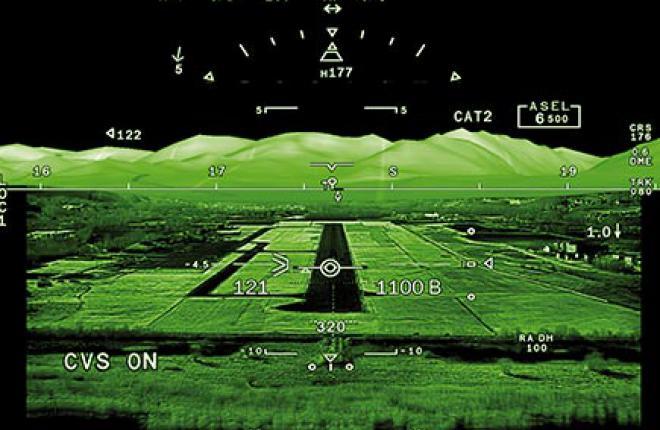 Самолеты Dassault Falcon оснастят дисплеями с системой комбинированного видения