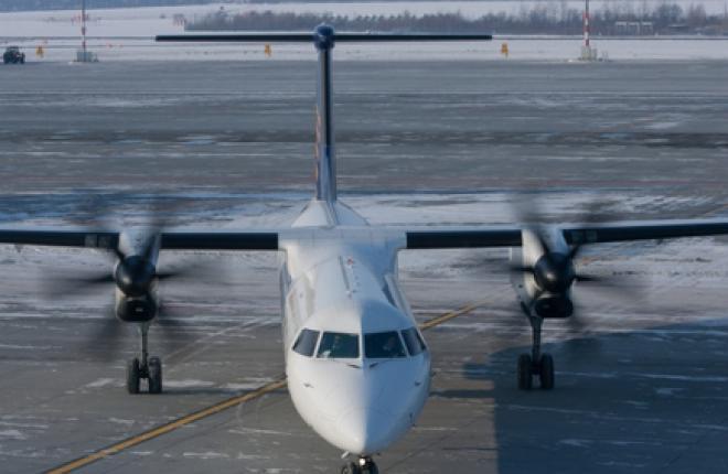 Казахстанская авиакомпания Qazaq Air получила первые три самолета Q400