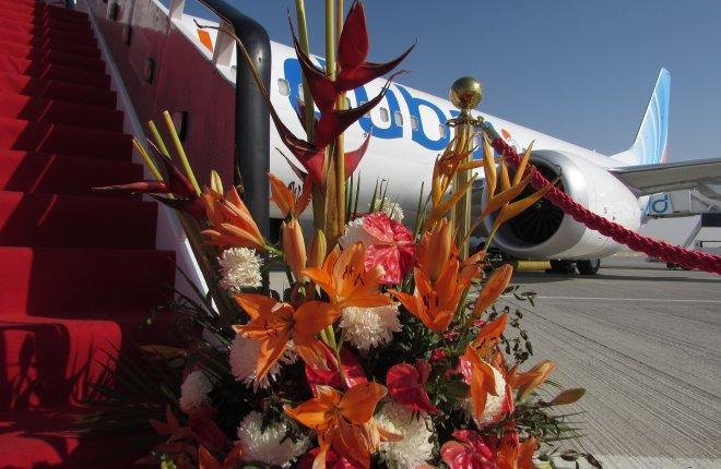 Первый самолет Boeing 737MAX-8 авиакомпании flydubai на Dubai Airshow 2017