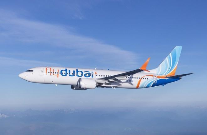самолет Boeing 737MAX авиакомпании flydubai