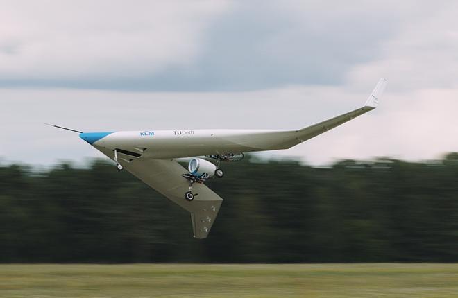модель концепта «ультра-эффективного» авиалайнера Flying-V