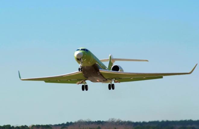 Пятый самолет Gulfstream G650 поднялся в воздух