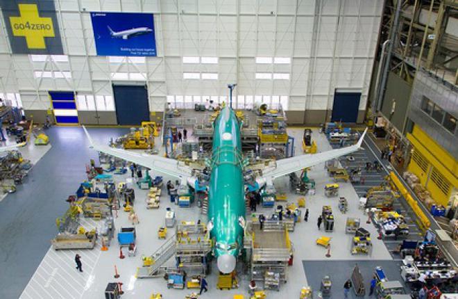 Boeing провел стыковку фюзеляжа первого самолета 737MAX