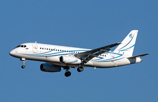 «Газпром авиа» эксплуатирует шесть из восьми полученных SSJ 100.
