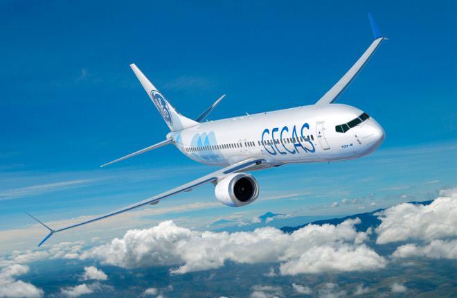 Самолет Boeing 737MAX-8 в ливрее GECAS