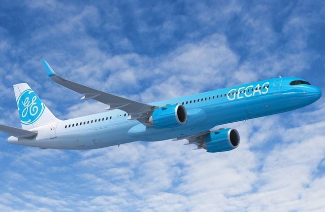 самолет в ливрее GECAS