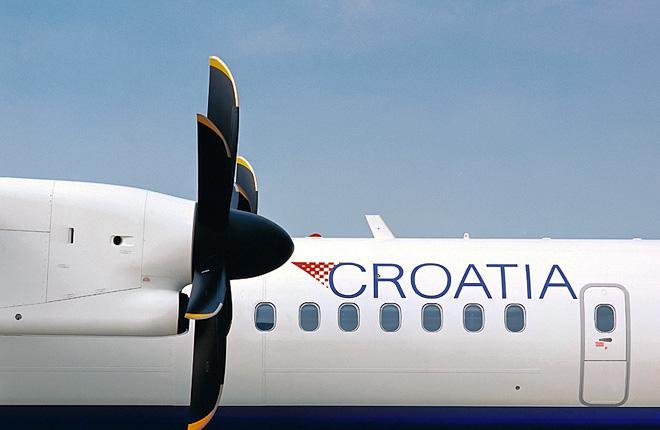 Самолет Q400 авиакомпании Croatia Airlines