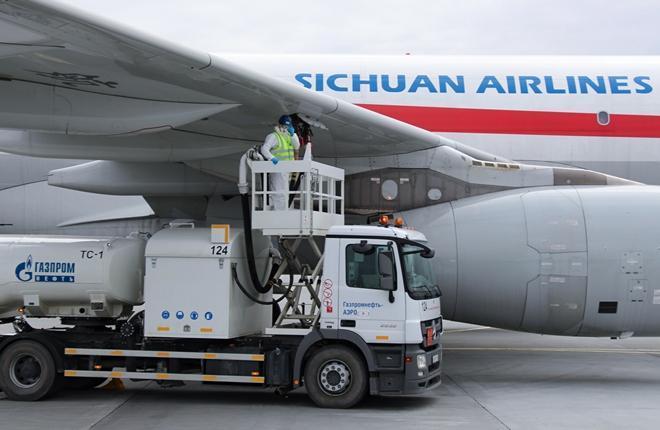 Газпромнефть-Аэро на 63% увеличило число заправок китайских авиакомпаний