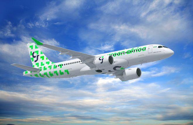 самолет A220-300 авиакомпании Green Africa