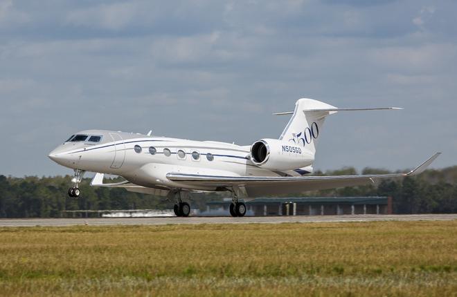 Gulfstream сертифицировал бизнес-джет G500