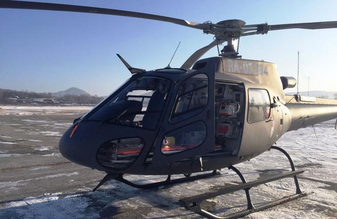 В Приморье подготовили к эксплуатации первый из двух медицинских вертолетов H125