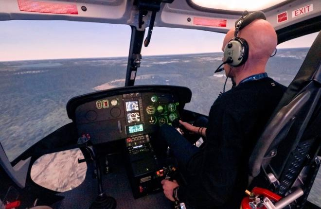 Полнопилотажный тренажер для вертолета H125
