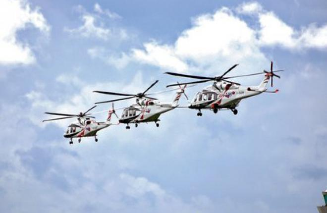 Представители семейства вертолетов AgustaWestland AW169, AW139 и AW189
