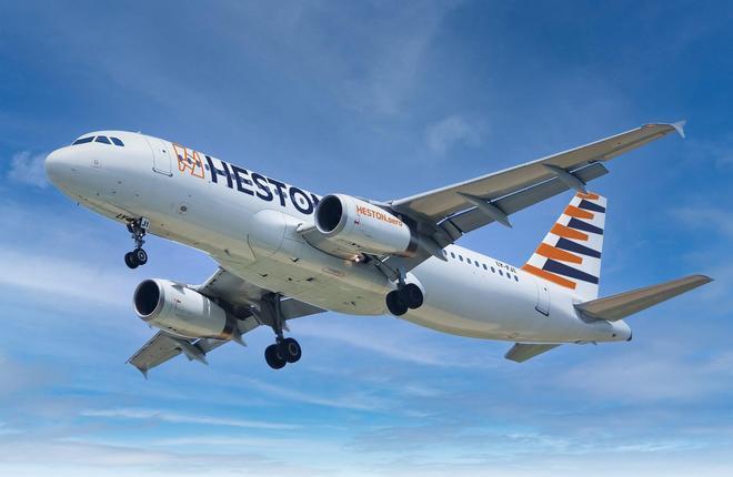 самолет авиакомпании Heston Airlines