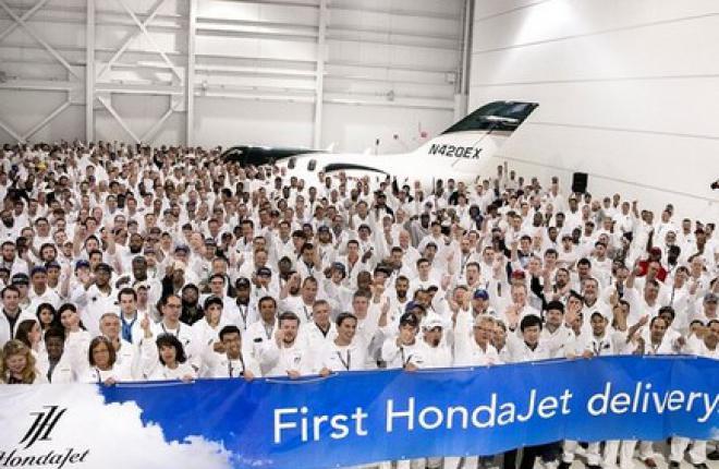 Первый деловой самолет HondaJet передан заказчику