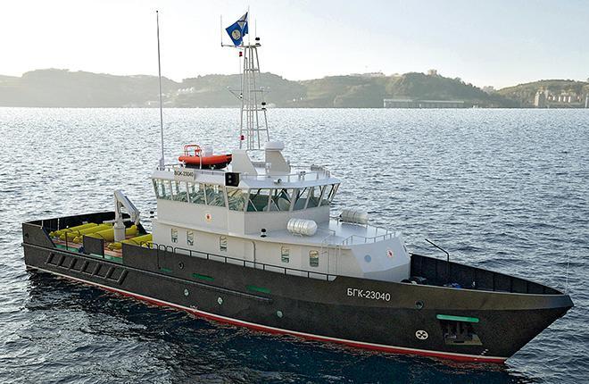 Полное водоизмещение катера проекта 23040Г составляет 192,7 т