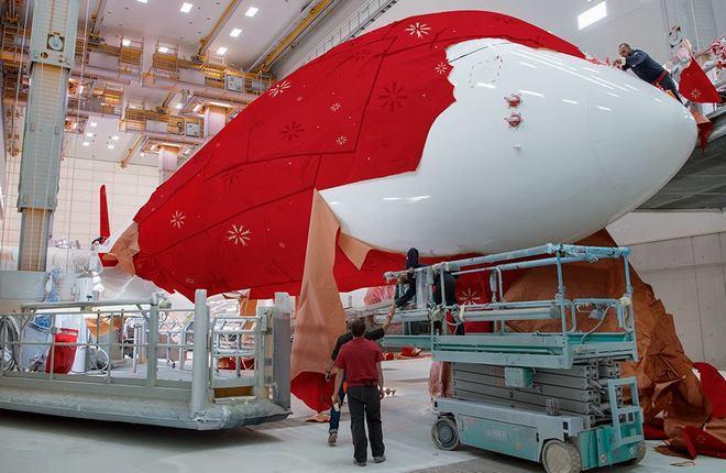 покраска самолета авиакомпании Iberia на мощностях Iberia Maintenance
