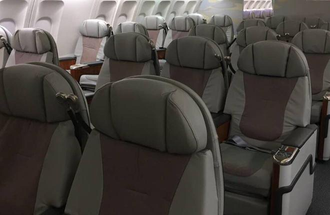 Пассажирский салон самолета A330-200 авиакомпании IFly