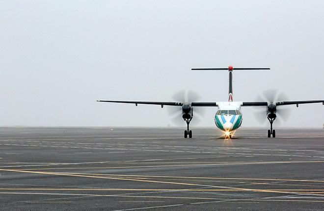 Доля региональных турбовинтовых самолетов в мировом пассажирском парке, по данным ОАК, составляет 9,7%, при этом доля пассажирооборота, выполняемого на этих самолетах, менее 1% :: Леонид Фаерберг / Transport-Photo.com