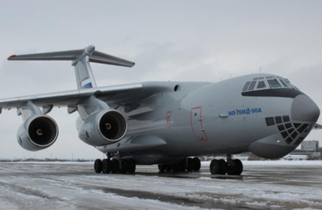 Военно-транспортный самолет Ил-76МД-90А выполнил первый испытательный полет