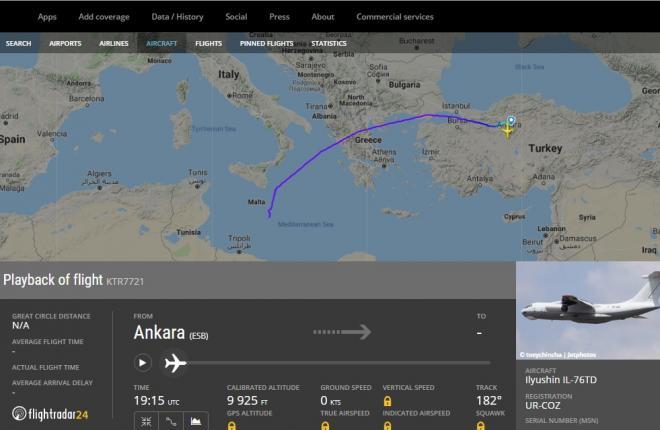 """последний полет самолета Ил-76 """"Скайавиатранс"""""""