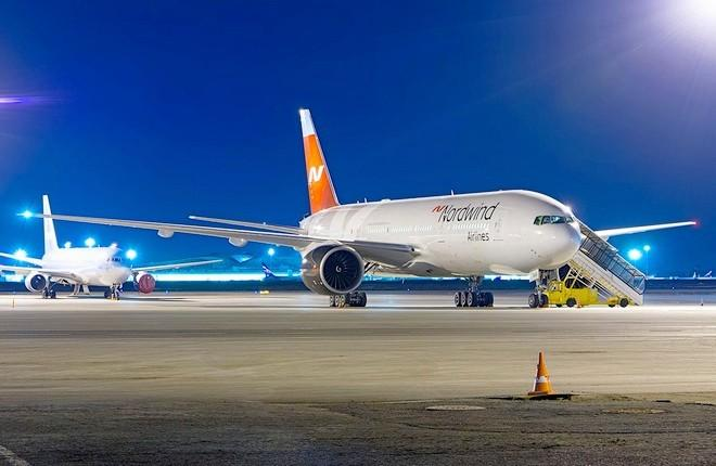 Самолет Boeing 777 российской авиакомпании NordWind
