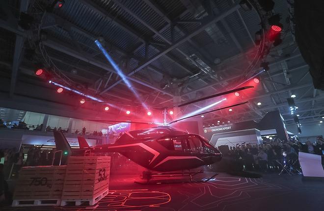 """""""Вертолеты России"""" впервые представили модель легкого вертолета VRT500"""
