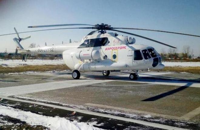 "Вертолет Ми-8АМТ авиакомпании ""Аэросервис"""