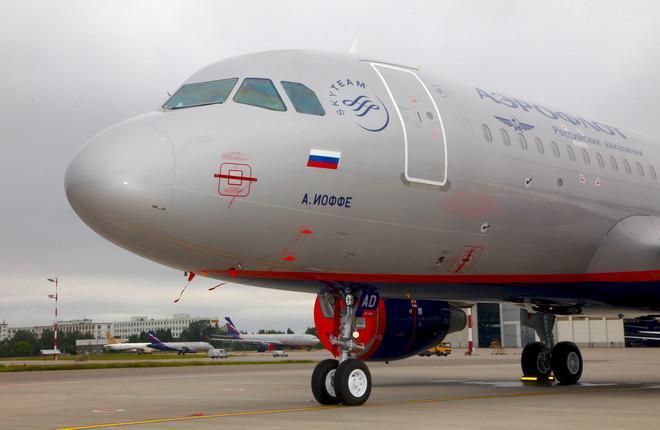 """Парк """"Аэрофлота"""" увеличился на один самолет A320"""