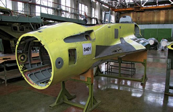 Fuselage components for one of the first MiG-29Ks in the latest production batch