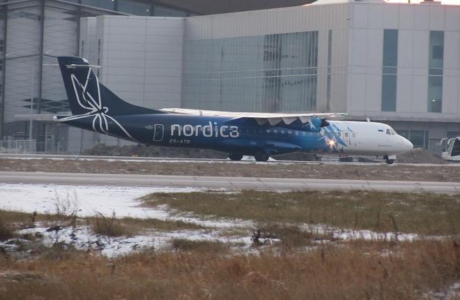 Самолет ATR42 эстонского оператора Regional Jet (Nordica)