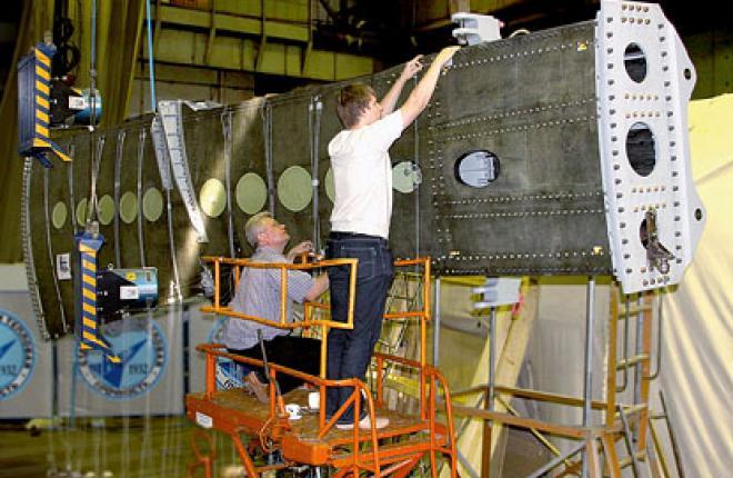 модель консоли крыла большого удлинения перспективного магистрального самолета