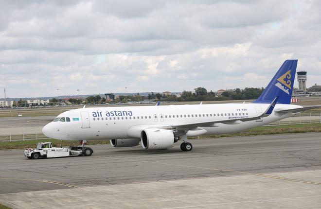 Авиакомпания Air Astana заменила оба двигателя на своем первом A320neo