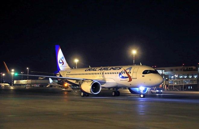 """Новый A320neo """"Уральских авиалиний"""""""