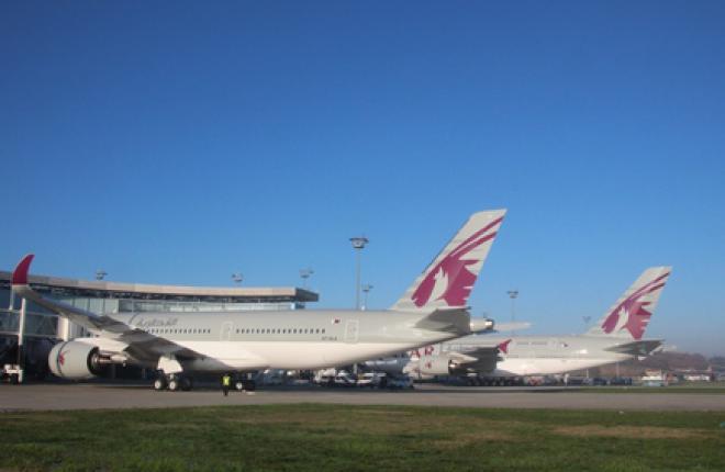 Авиакомпания Qatar Airways получила первый Airbus A350XWB